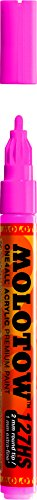 Molotow ONE4ALL Acrylic Paint Marker, 2mm, Neon Pink Fluorescent, 1 Each (127.231)