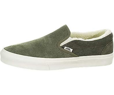 458b460701f52b Amazon.com  Vans Classic Slip-On (Suede Sherpa)  Shoes