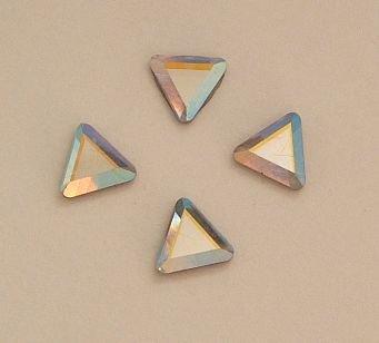 Swarovski Crystal Triangle (SWAROVSKI 2711 Flatback HOTFIX Triangles CRYSTAL AB 6mm)