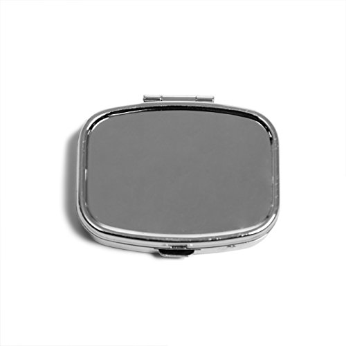 Morepack Portable Metal Pill Box Medicine Organizer Container Jewelry Storage Case Holder (Silver) (Metal Case Durable)
