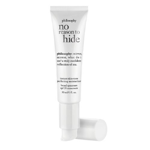 philosophy no reason to hide instant skin-tone perfecting moisturizer broad spectrum spf 20 sunscreen, light (1 oz)