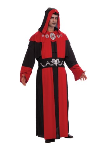 [Rubie's Costume Adult Full Cut Gothic Robe Costume, Red/Black, Plus] (Black Full Cut Robe Costumes)