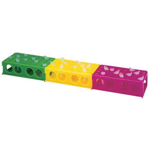 Heathrow HS29022E Yellow 4 Way Tube Rack Pack of 20