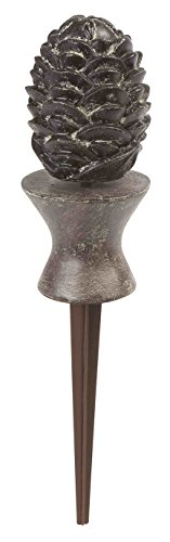 - Liberty Garden 615 Decorative Pine Cone Garden Hose Guide - Bronze