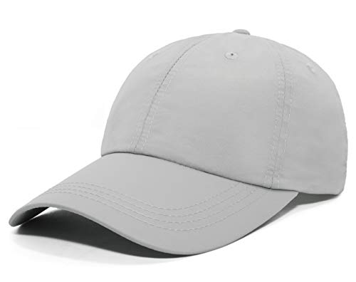 ELLEWIN Unisex Classic Plain Baseball Cap UPF 50 Unstructured 6 Panel Dad Hats,Light Grey