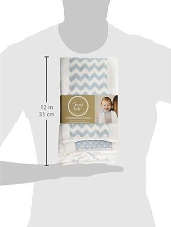 Trend Lab 3-Pack Jumbo Burp Cloth Set, Blue Sky 102571