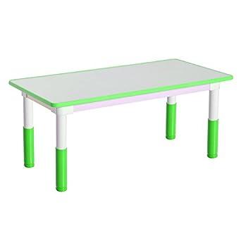 Qaba altura ajustable mesa escolar rectangular - aprendizaje y ...