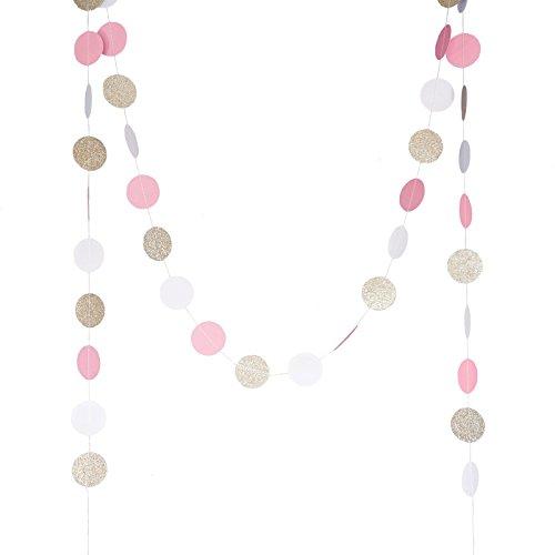 chloe-elizabeth-circle-dots-paper-party-garland-backdrop-10-feet-long-pink-white-gold-glitter