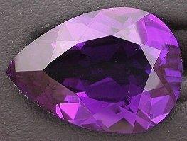 Cut Amethyst Stone (18x13 Purple Amethyst Color Pear Cut Quartz Gemstone)