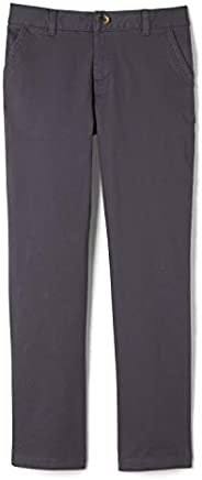 French Toast Boys Adjustable Waist Stretch Straight Fit Chino Pant (Standard & Hu