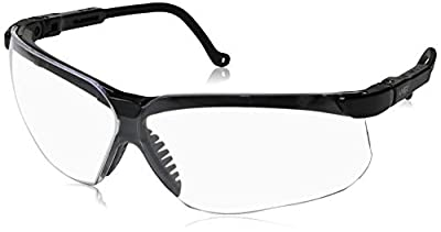 Uvex by Honeywell S3200X Genesis Eyewear, Clear Polycarbonate Anti-Fog Lenses, Black Frame