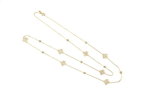 Necklace Long Clover Gold