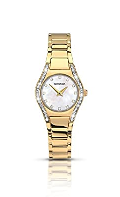 Sekonda Aurora Ladies Watch With Mother of Pearl Dial And Gold Plated Stainless Steel Bracelet 2239