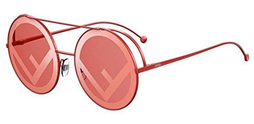 New Fendi RUN AWAY FF 0285/S C9A/0L Red/Coral Red Sunglasses