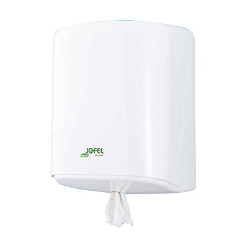 Jofel AG40700 Dispensador de Papel Mecha Azur (Box), ABS Blanco Antibacteriano: Amazon.es: Industria, empresas y ciencia