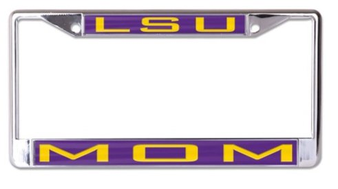 WinCraft NCAA Louisiana State University LSU Tigers 6 x 12 Inlaid Acrylic/Metal License Plate Frame (Lsu Acrylic)