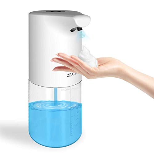Automatic Soap Dispenser ZEALINNO Touchless Infrared Motion Sensor Soap Dispenser, USB Rechargeable, 300ml/10oz, IPX4…