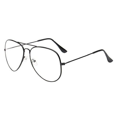 f69a2b55ed good Creazrise Unisex Clear Lens Glasses Retro Metal Spectacle Frame Myopia  Eyeglasse for Men Women