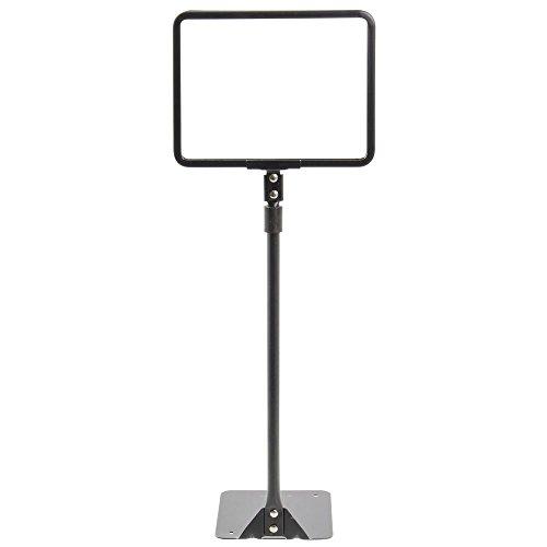 HUBERT Sign Frame Sign Holder With Adjustable Round Stem Matte Black Finished Steel Horizontal - 7'' L x 5 1/2 H by Hubert