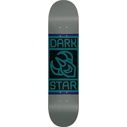Darkstar Block Skateboard Deck - 8.0 Grey/Sage Deck ONLY - (Bundled with Free 1'' Hardware ()