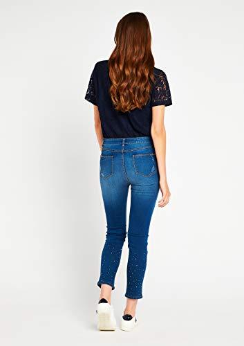 34 Tailles Strass 44 Bleu avec LOLALIZA Jeans xC0wzqSCT