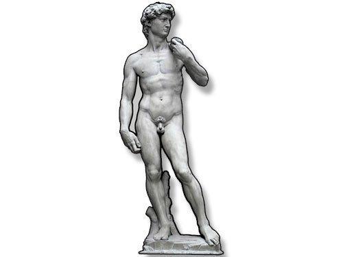 GHaynes Distributing Michelangelo DAVID Shaped Sticker Decal (fine art sculpt Sticker Decal ic) 2 x 5 inch
