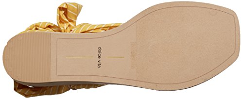 Henlee Fabric Zeh Offener Frauen Vita Yellow Hausschuhe leger Dolce qfUOFEAwxf