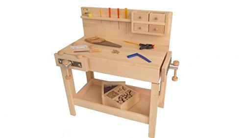 Kinder Werkbank Werkzeugbank Kinder Hobelbank Kinder Tischlerei 4015 Amazon De Baby
