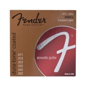 Fender 880CL 11-52 Strings for Acoustic Guitar
