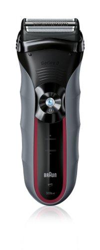 Braun Series 3 320s-4 elektrischer Rasierer / Rasierapparat (Elektrorasierer einsetzbar als Trockenrasierer und Nassrasierer (Wet und Dry)) rot/grau