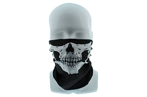 COD Skull Call of Duty Seamless Wide Tube Bandana Balaclava Face Mask for Men & Women – Paintball, Ski, Dust, Costume (Call Of Duty Ghost Halloween Costumes)