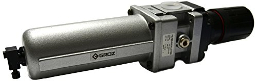 "Groz 60382 Air Filter - Regulator Combination, Metal Bowl, Standard-1/2"" NPT , 106 CFM"