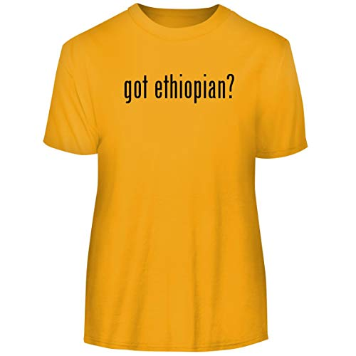 One Legging it Around got Ethiopian? - Men's Funny Soft Adult Tee T-Shirt, Gold, Small