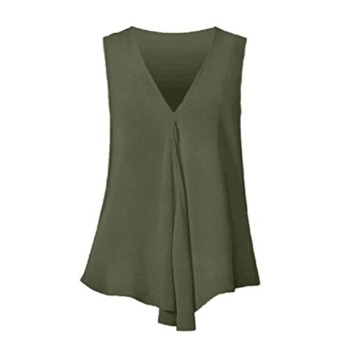XMNDS Womens Loose Blouse Short Sleeve V Neck Button Down T Shirts Tie Front Knot Casual Tops A1 ()