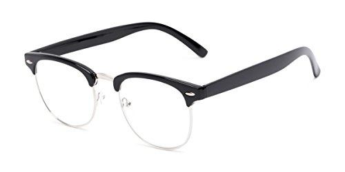 Readers.com Reading Glasses: The Jet Setter Reader, Metal Browline Style for Men and Women - Black, 2.75 (Vintage Horn Rimmed Glasses)