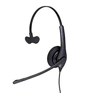Jabra Biz 1500 Quick Disconnect On-Ear Mono Headset – Corded Headphone with Noise-cancelling Microphone and Volume Spike…