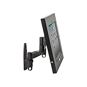 Monoprice Secured and Secure Wall Mount Display Stand for 9.7-Inch iPad - Black (110307)