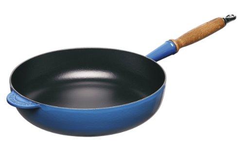 Le Creuset Heritage Marseille Enameled Cast Iron 11 Inch Wooden Handle Saute Pan