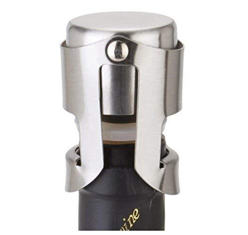 Asvert Champagne Stopper Stainless Steel Vacuum Wine Bottle Sealer, Pack of 4
