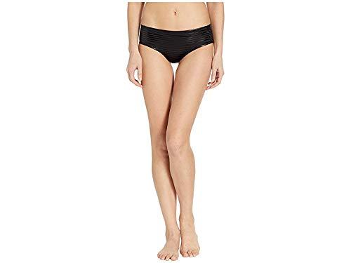 Nike Women's 6:1 Shine Stripe Hipster Bottoms Black Medium