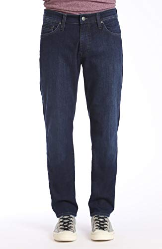 - Mavi Mens Matt Relaxed Straight Leg Jeans, Deep Clean Comfort, 38W x 32L