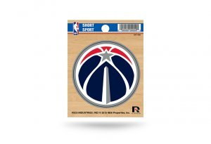 Rico NBA Washington Wizards Die Cut Team Logo Short Sport Sticker