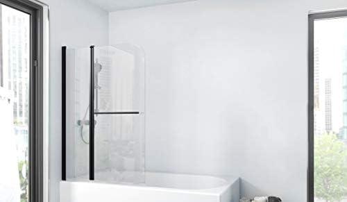 Marwell BWF285 Factory - Pared plegable para bañera, color negro mate, 100 x 140 cm: Amazon.es: Bricolaje y herramientas