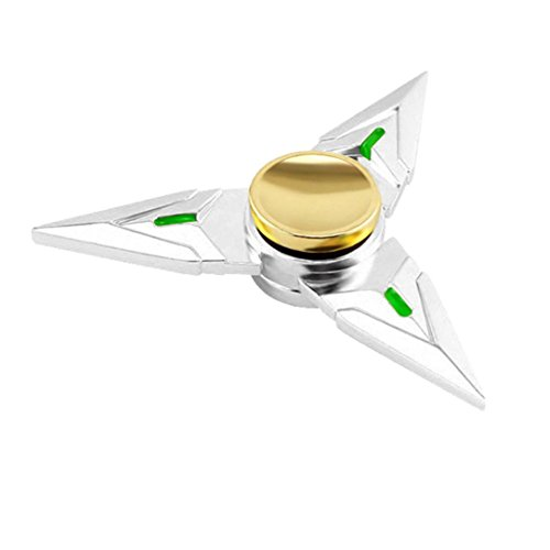 Price comparison product image Tiean Hand Fidget Spinner Cheap Silver Genji Cosplay Alloy Model Toys
