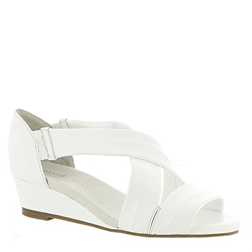 Strappy Casual Sandals Open Tate SWELL Lamb White Womens Leather Toe David Yp70qOO