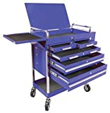 Sunex 8045BL Heavy Duty 5-Drawer Service Cart, Blue