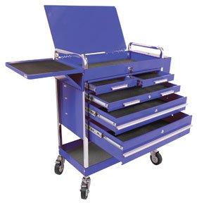 Sunex 8045BL Heavy Duty 5-Drawer Service Cart, Blue