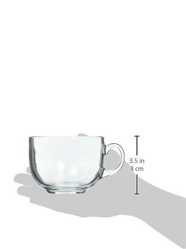 Luminarc Glasses Assorted Coffee Mugs Set of 4 Clear