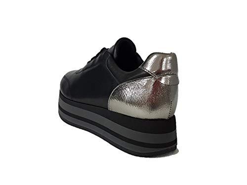Sneaker Argento Donna Nero 55m2 Frau Y6C1qwq
