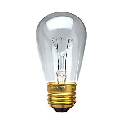 Sival - 11S14 Sign Light Bulb (S14), 11 Watts, Clear, Pack of 20, Commercial-Grade, 5,000 hours